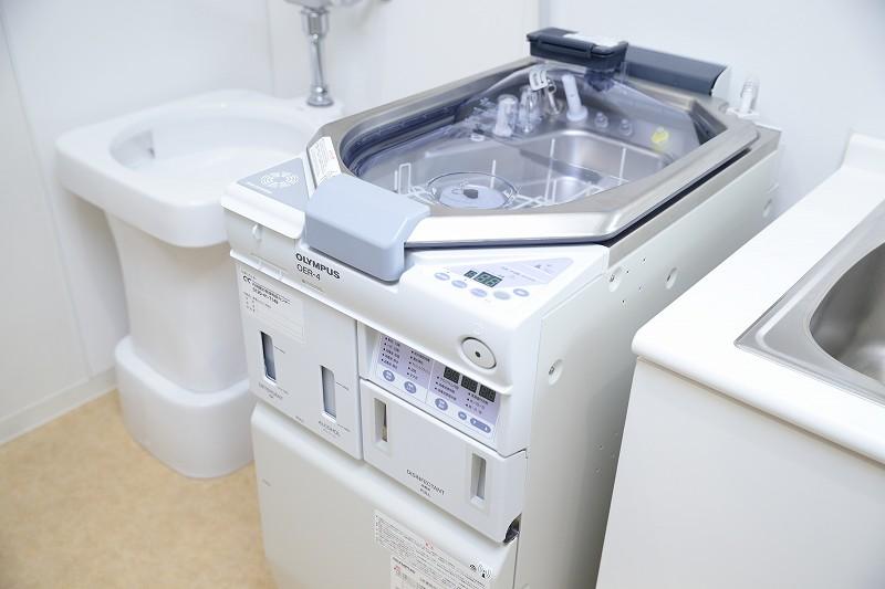 徹底的に洗浄・消毒する内視鏡洗浄システム